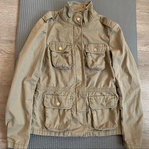 H&M Olive Green Lightweight Jacket Sz 4